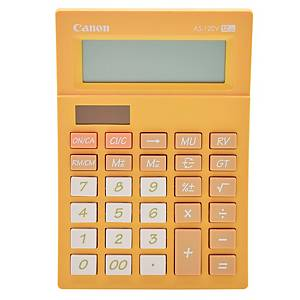 Canon AS-120V Desktop Calculator 12 Digits Orange