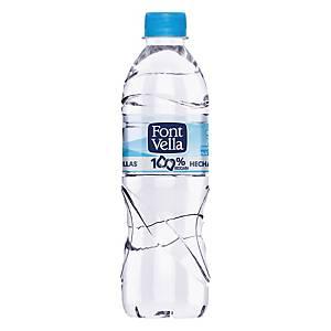 Pack de 24 botellas de agua Font Vella - 100% RPETB - 0,5 l