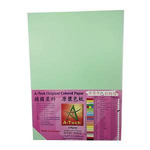 A-Tech A4 粉色顏色紙 160磅 淺綠色 - 每包30張