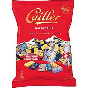 Chocolat, Cailler, Napolitains, assortis, paquet de 2,5 kg / 500 pièces