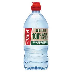 Eau Vittel Sport 75 cl - 100% recyclée - plateau de 24 bouteilles
