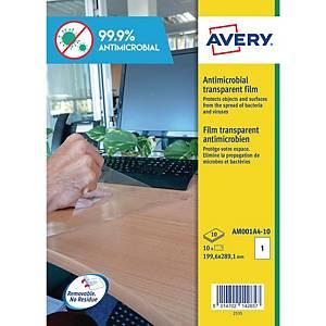 Etichette antimicrobiche antibatteriche Avery AM001A4 199,6X289,1 mm - conf. 10