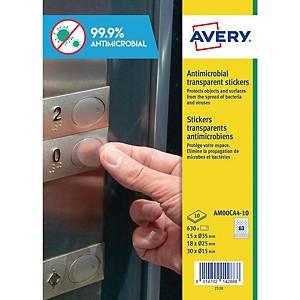 Etichette antimicrobiche antibatteriche Avery AM00CA4 formati misti - conf. 630