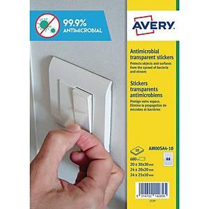 Etichette antimicrobiche antibatteriche Avery AM00SA4 formati misti - conf. 680