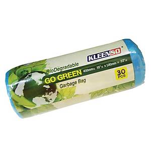 Kleenso Bio-Degradable Garbage Bag Small Blue - Roll of 30