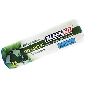 Kleenso Bio-Degradable Garbage Bag Medium Blue - Roll of 10