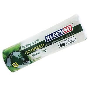 Kleenso Bio-Degradable Garbage Bag Medium White - Roll of 10