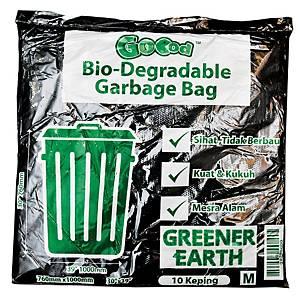 Kleenso Ordinary Garbage Bag Medium Black - Pack of 10