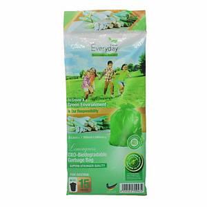 Everyday OXO-Biodegradable Garbage Bag Lemongrass Medium Green - Pack of 15