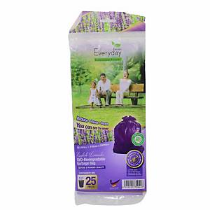 Everyday OXO-Biodegradable Garbage Bag Lavender Small Purple - Pack of 25