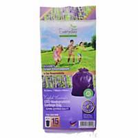 Everyday OXO-Biodegradable Garbage Bag Lavender Medium Purple - Pack of 15