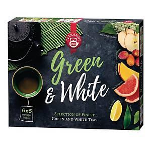 Zestaw herbat zielonych i białych TEEKANNE, 5 x 6 kopert