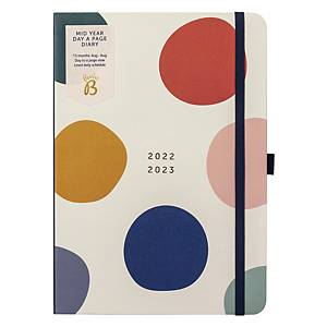 BUSY B 13 Month Page a Day A5 Academic Diary White