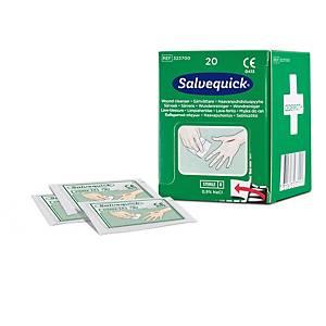 Salvequick 323700 lave-blessure, boite de 20 sachets