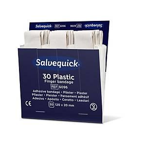 Refill of 30 Salvequick 6096 plastic plasters, 6 refills/box.