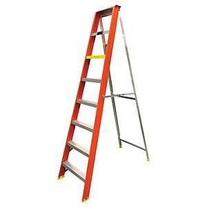 Worker Single Single Sided 7 Step Heavy Duty Ladder