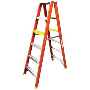 Worker Single Double Sided 6 Step Heavy Duty Ladder