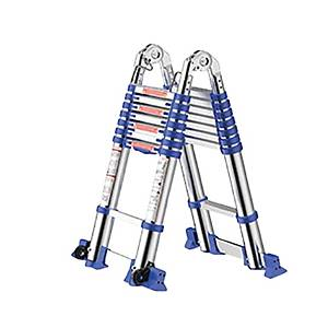 Worker Double Telescopic 8+8 Step Ladder