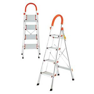 Worker Household Single Sided 4 Step Aluminium Ladder