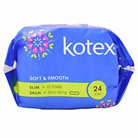 Kotex Soft & Smooth Slim Non-Wing Sanitary Pad - Pack of 10