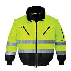 PORTWEST PJ50 JACKET HV 3IN1 YLLW L