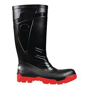 Kalosze FAGUM STOMIL 13161 S5 PVC, czarno-czerwone, rozmiar 40