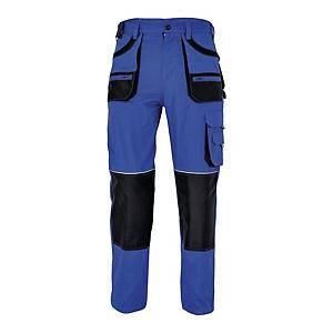 Spodnie robocze F&F BE-01-003, niebiesko-czarne, rozmiar 48