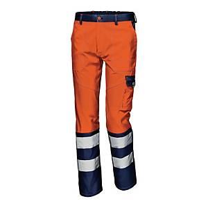 Spodnie strzegawcze SIR SAFETY Mistral 34933, pomarańczowo-granatowe, rozmiar 52