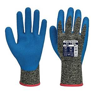 Rękawice antyprzecięciowe PORTWEST A611, szaro-niebieskie, rozmiar 9,para
