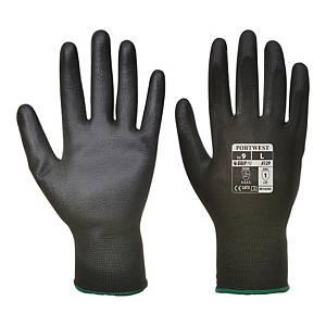 Rękawice robocze PORTWEST A129, czarne, rozmiar 7, 12 par