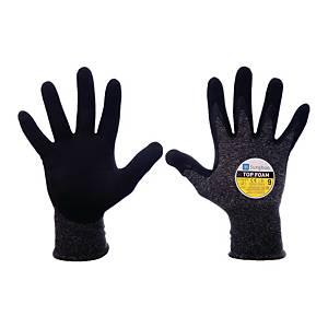 Rękawice ochronne SUNGBOO Top Foam, czarne, rozmiar 8, para