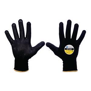 Rękawice ochronne SUNGBOO Dot Grip, czarne, rozmiar 8, para