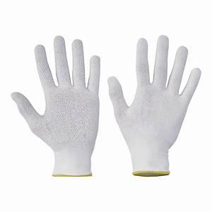 Rękawice ochronne CERVA Bustard EVO, białe, rozmiar 7, 12 par