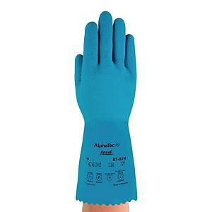 Rękawice ANSELL Alphatec 87-029, niebieskie, rozmiar 9, para