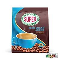 SUPER Original Coffee Zero Sugar Added 2in1  - Pack of 25