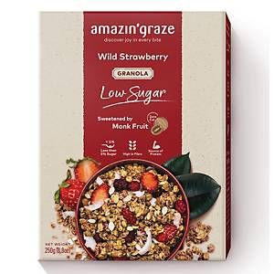 Amazin  Graze Wild Strawberries Low Sugar Granola 250g