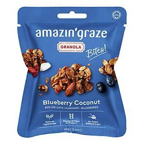 Amazin  Graze Mini Blueberry Coconut Granola Bites 40g - Box of 10