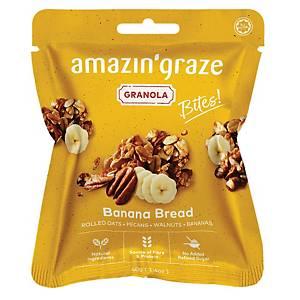 Amazin  Graze Mini Banana Bread Granola Bites 40g - Box of 10