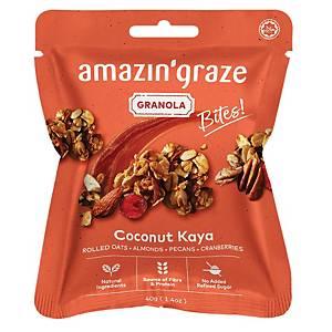 Amazin  Graze Mini Coconut Kaya Granola Bites 40g - Box of 10
