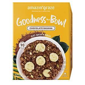 Amazin  Graze Chocolate Banana Instant Oatmeal (Goodness Bowl) 6x40g