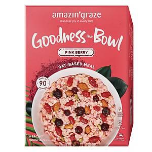 Amazin  Graze Pink Berry Instant Oatmeal (Goodness Bowl) 6x40g