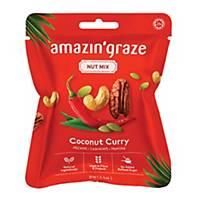 Amazin  Graze Mini Coconut Curry Nut Mix 30g - Box of 10