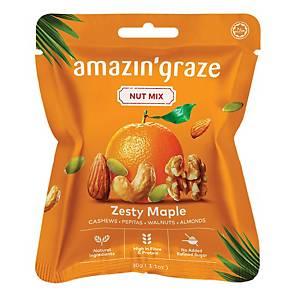 Amazin  Grace Mini  Zesty Maple Nut Mix 30g - Box of 10