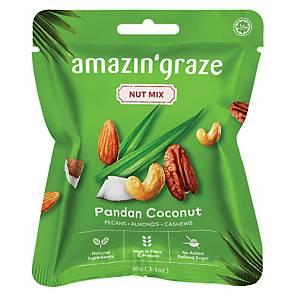 Amazin  Grace Mini Pandan Coconut Nut Mix 30g - Box of 10