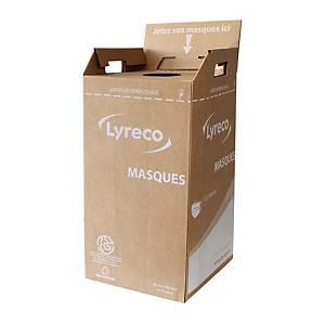 Reprise + livraison d un  carton de récupération pour masques usagés