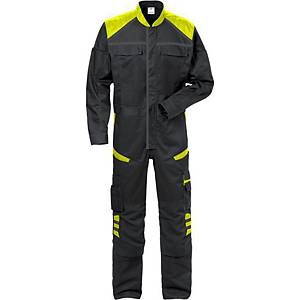 FRISTADS 8555 COVERALL HV YELLOW/BLK XS