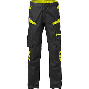 FRISTADS 2552 TROUSERS BLK/HV YELLOW 62