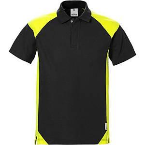 Polo Fristads Dynamic 7047, noir/jaune hi-viz, taille XL, la pièce