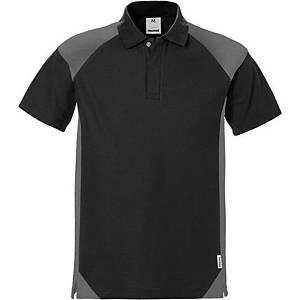 FRISTADS 7047 POLO SHIRT BLACK/GREY XL