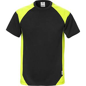 Fristads Dynamic 7046 T-shirt, zwart/hi-viz geel, maat 3XL, per stuk